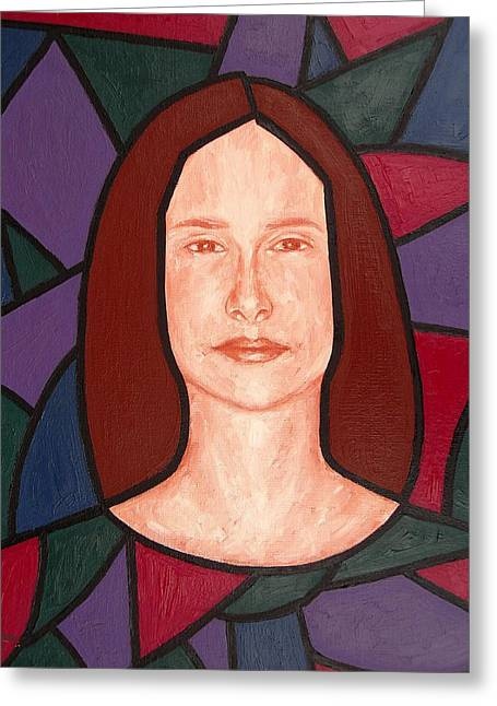 Tablets Greeting Cards - Stained Glass Window Greeting Card by Patrick J Murphy