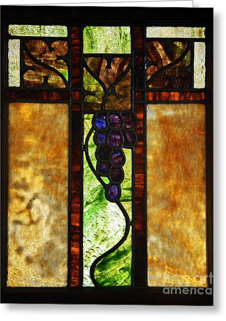 Stained Glass Window Greeting Card by Valerie Garner