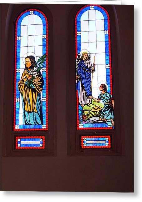 Stainglass Greeting Cards - Stainglass Greeting Card by Darryl Treon