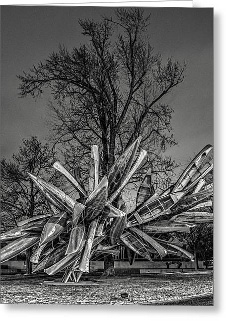 Stainless Steel Greeting Cards - Stainless Steel Aluminum Monochrome I - Bw Greeting Card by Chris Bordeleau
