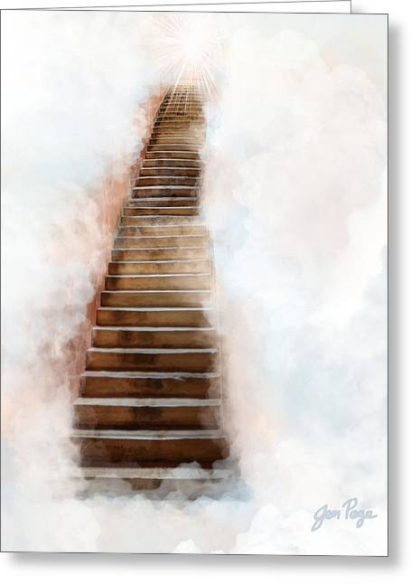 Jennifer Page Greeting Cards - Stair Way to Heaven Greeting Card by Jennifer Page