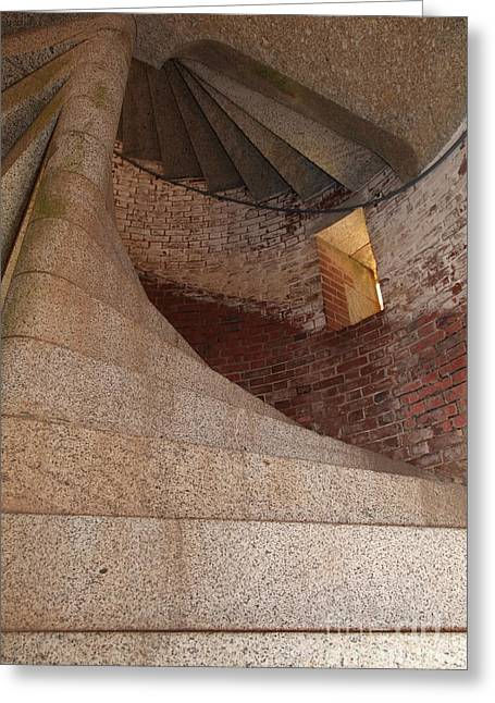 Armory Greeting Cards - Stair Well at San Francisco Fort Point 5D21527 Greeting Card by Wingsdomain Art and Photography
