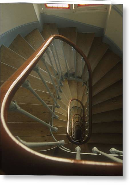 Wooden Stairs Greeting Cards - Staircase -- Paris II Greeting Card by Harold E McCray