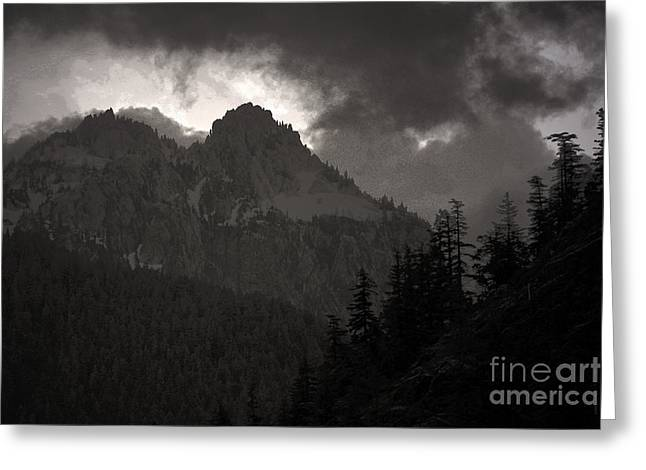 Olympic Mountains Greeting Cards - Staircase  Greeting Card by C E Dyer