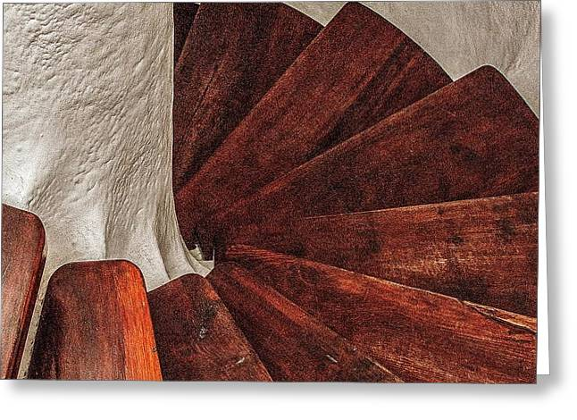 Wooden Stairs Greeting Cards - Staircase Greeting Card by Claude Sassoon