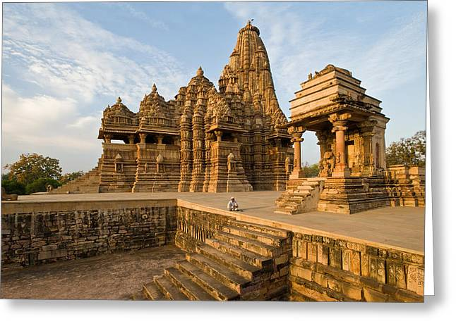Civilization Greeting Cards - Staircase In A Temple, Khajuraho Greeting Card by Panoramic Images