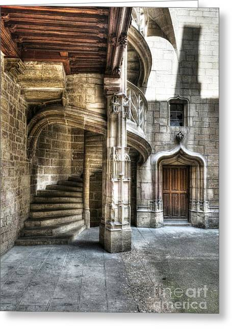 Dijon Greeting Cards - Staircase in Dijon Greeting Card by Mel Steinhauer
