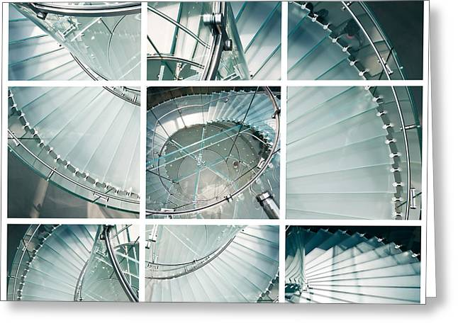 Spiral Staircase Greeting Cards - Staircase jigsaw Greeting Card by Delphimages Photo Creations
