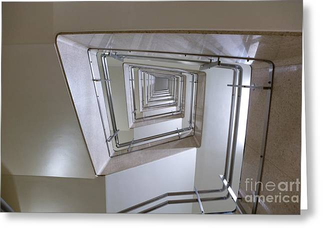 Orderly Greeting Cards - Staircase Greeting Card by Oote Boe