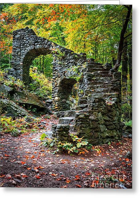 Stone Steps Greeting Cards - Accendance Greeting Card by Edward Fielding