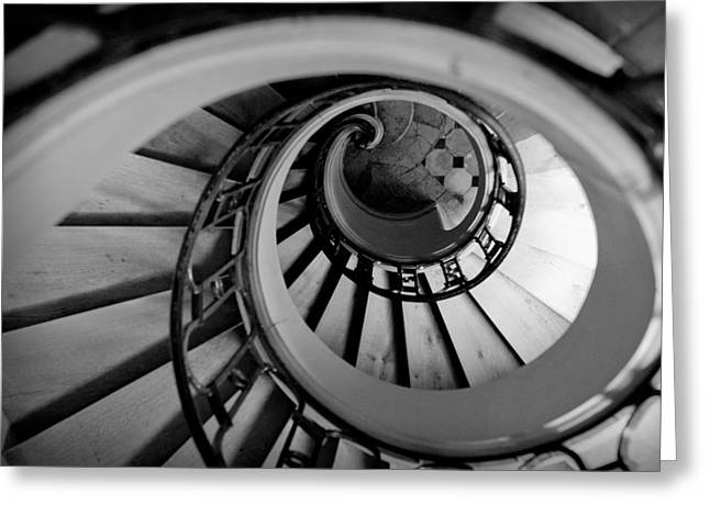 Spiral Staircase Photographs Greeting Cards - Staircase Greeting Card by Sebastian Musial