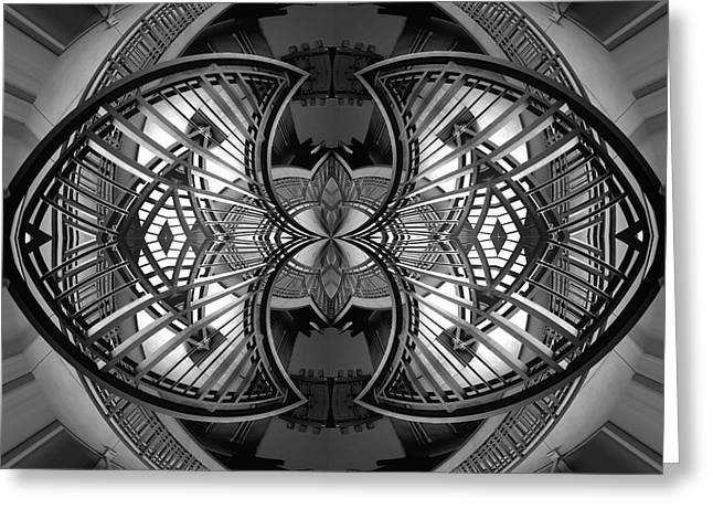 Art Nuveau Greeting Cards - Staircase Symmetry Greeting Card by Christina  Skibicki