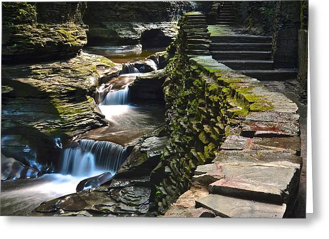 Tremendous Greeting Cards - Stairs and more Stairs Greeting Card by Frozen in Time Fine Art Photography