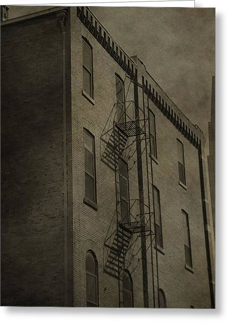 Historical Buildings Greeting Cards - Stairs And Shadows Greeting Card by Dan Sproul
