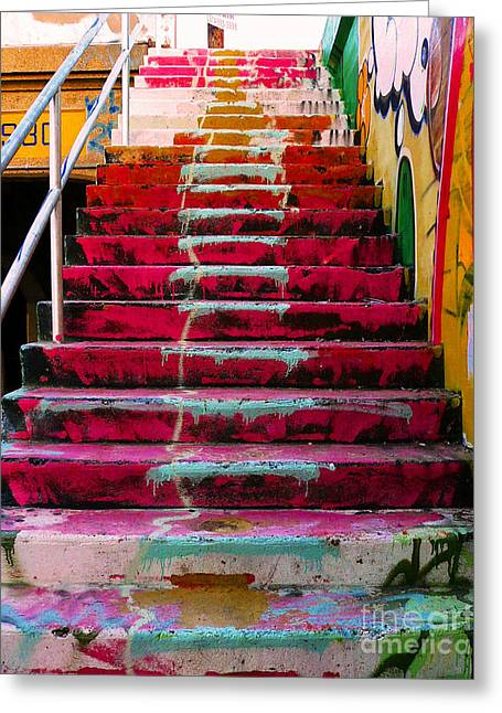 Pop Photographs Greeting Cards - Stairs Greeting Card by Angela Wright