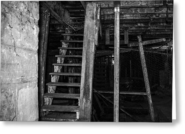 Underground Tour Greeting Cards - Stairs Greeting Card by Angus Hooper Iii