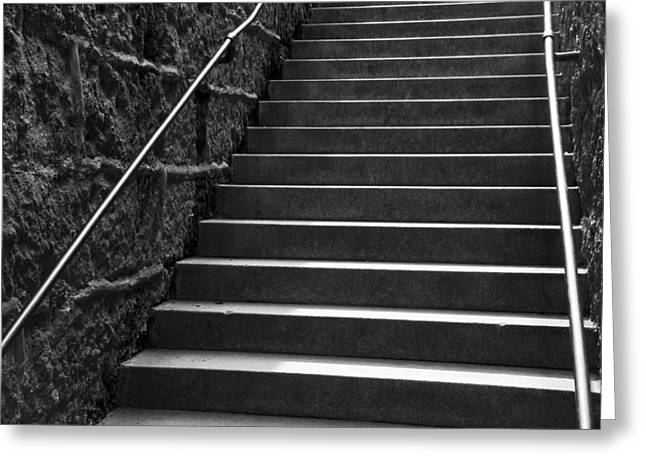 Surrounding Wall Greeting Cards - Stairs Greeting Card by Chevy Fleet