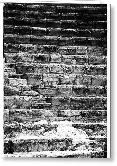 Ancient Ruins Greeting Cards - Stairs from the Past Greeting Card by John Rizzuto