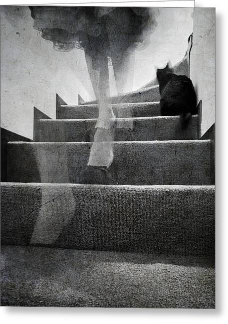 Presence Greeting Cards - Stairs Greeting Card by Laura Melis