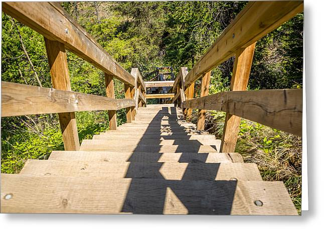 Wooden Stairs Greeting Cards - Stairs Greeting Card by Mike Houghton BlueMaxPhotography
