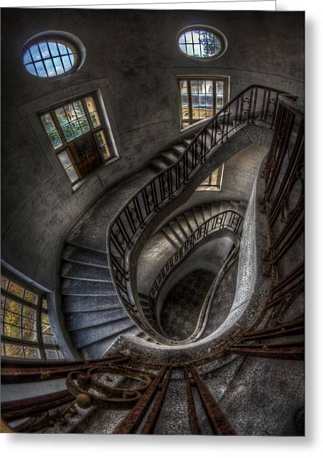 Barrack Digital Greeting Cards - Stairs of majesty . Greeting Card by Nathan Wright