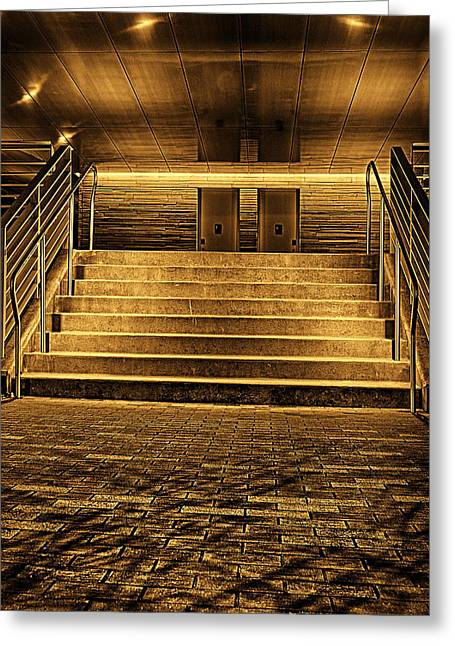 Stair-rail Greeting Cards - Stairs Greeting Card by Tim Hayes