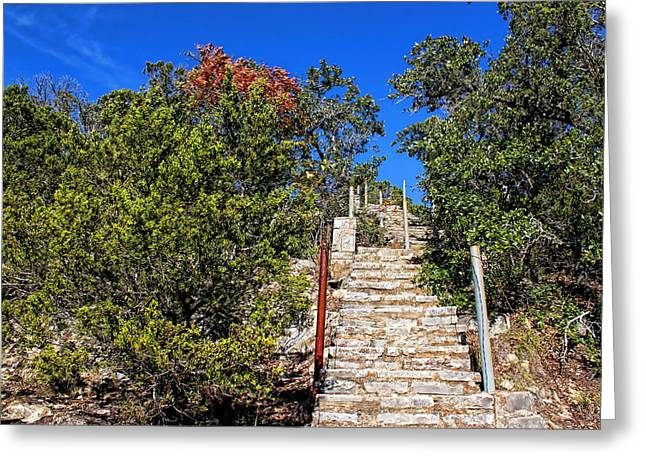 Wimberley Greeting Cards - Stairs To Mount Baldy  Greeting Card by Judy Vincent