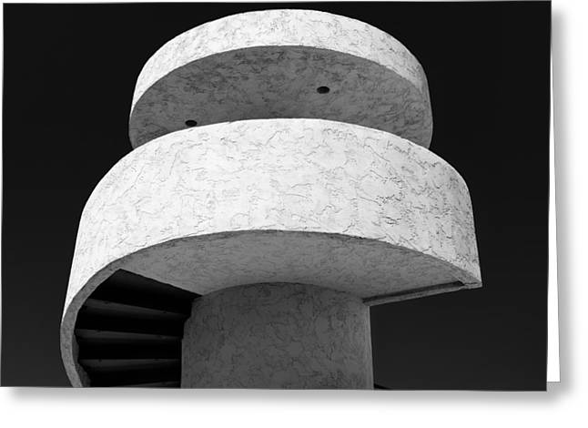 Abstract Shapes Greeting Cards - Stairs to Nowhere Greeting Card by Dave Bowman