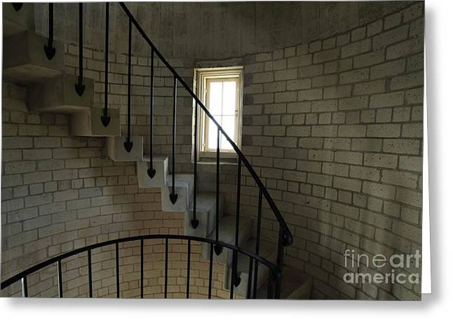 Stairs To The Light Greeting Card by Adam Jewell