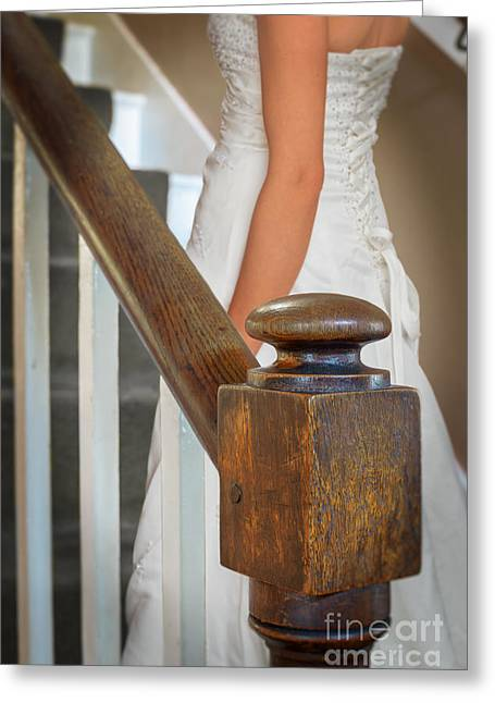 Beaded Dress Greeting Cards - Stairway Greeting Card by Amanda And Christopher Elwell