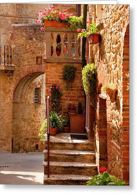 Stairway Entrance To A Home Greeting Card by Brian Jannsen
