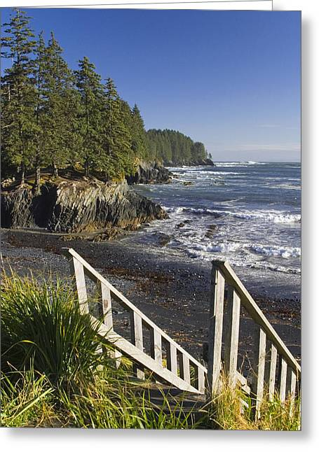 Kodiak Greeting Cards - Stairway Leading Down To Beach  Mill Greeting Card by Kevin Smith