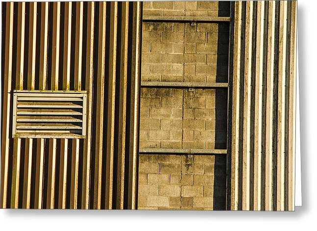 Power Plants Greeting Cards - Stairway on Building Greeting Card by Jean Noren