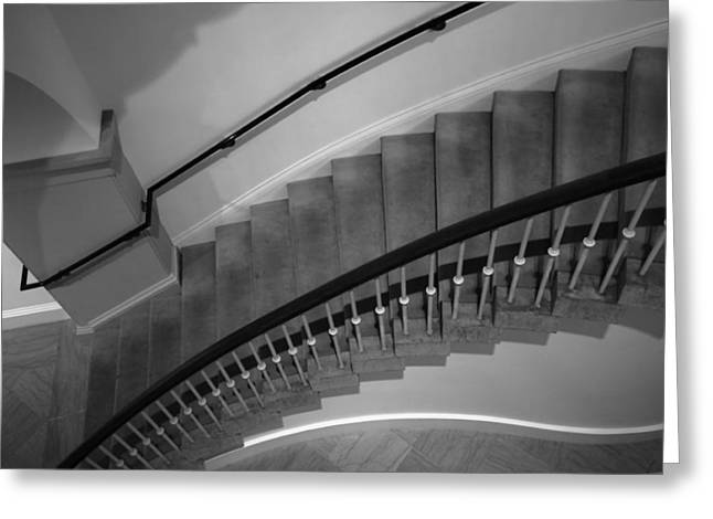 Architecture Metal Prints Greeting Cards - Stairway Study I Greeting Card by Steven Ainsworth
