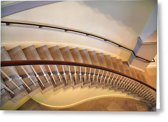 Architecture Metal Prints Greeting Cards - Stairway Study III Greeting Card by Steven Ainsworth