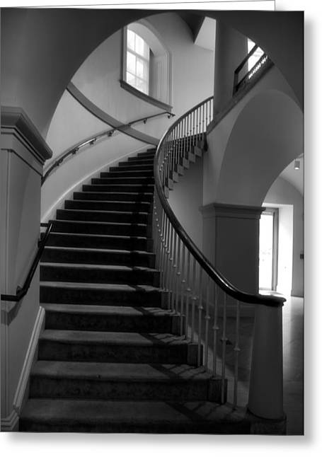 Architecture Metal Prints Greeting Cards - Stairway Study V Greeting Card by Steven Ainsworth