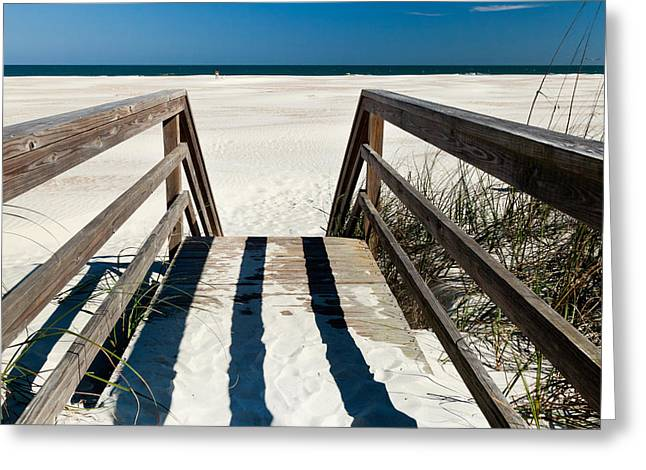 Stairway to Happiness and Possibilities Greeting Card by Michelle Wiarda