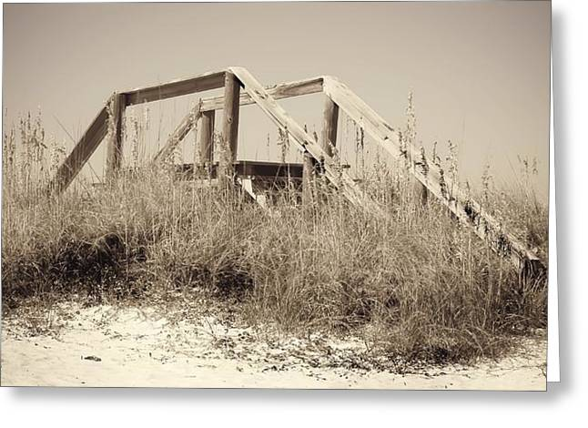 Panama City Beach Fl Greeting Cards - Stairway To Heaven 2  Greeting Card by Debra Forand