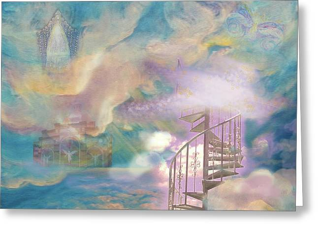 Anne Cameron Cutri Greeting Cards - Stairway to Heaven Greeting Card by Anne Cameron Cutri