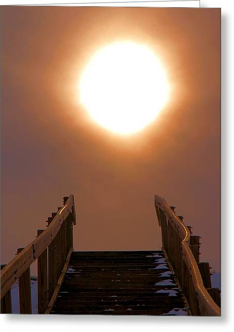 Overcoming Greeting Cards - Stairway To Heaven Greeting Card by Dan Sproul