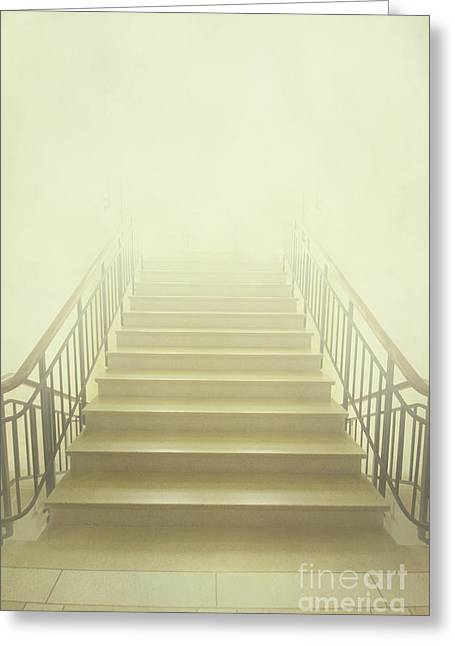 Ahead Greeting Cards - Stairway To Heaven Greeting Card by Evelina Kremsdorf
