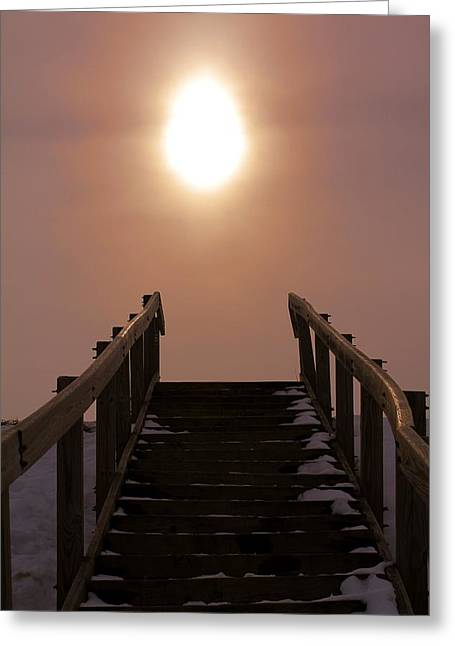 Stairway To Heaven Greeting Cards - Stairway To Heaven In Ohio Greeting Card by Dan Sproul