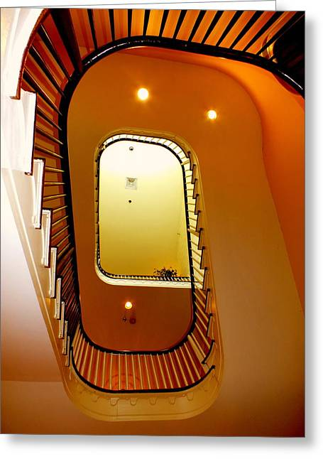 Contemporary Abstract Photographs Greeting Cards - Stairway to Heaven Greeting Card by Karen Wiles