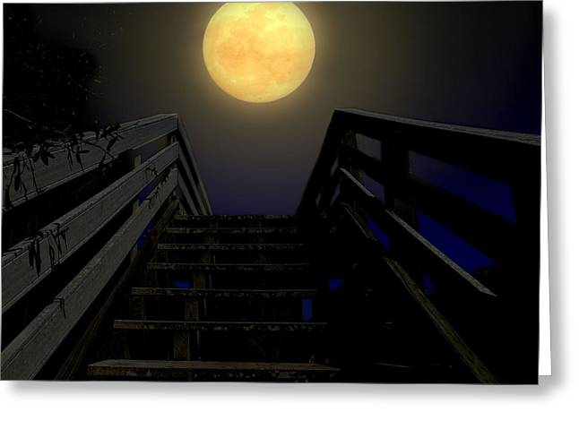 Saint Hope Greeting Cards - Stairway to Heaven Greeting Card by Laura Ragland