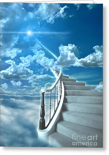 Stairway To Heaven Greeting Cards - Stairway To Heaven Greeting Card by Mike Agliolo