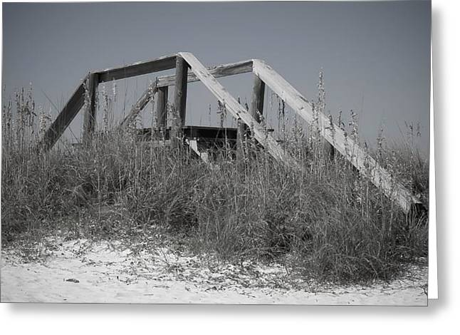 Panama City Beach Greeting Cards - Stairway To Heaven Pano Greeting Card by Debra Forand