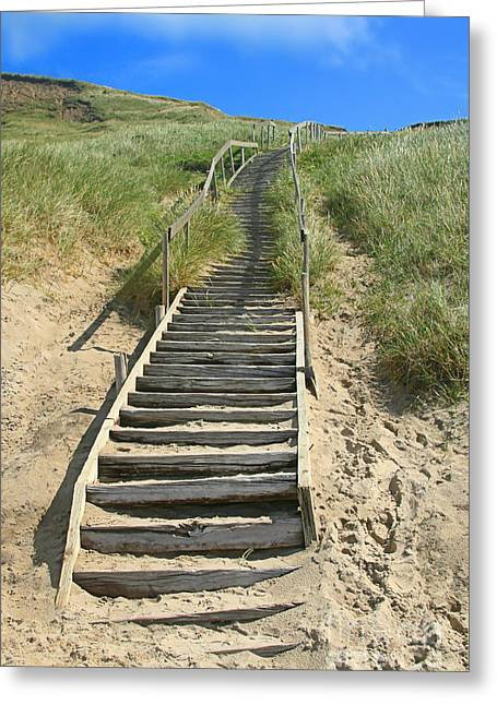 Wooden Stairs Greeting Cards - Stairway To Heaven Greeting Card by Ste Flei