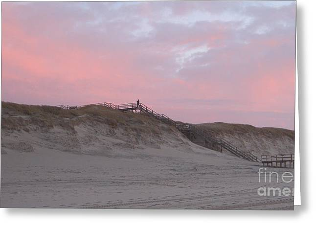 Affirmation Greeting Cards - Stairway to heaven sunset Greeting Card by Heidi Sieber