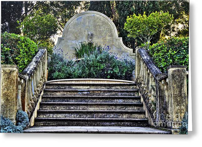 Stepping Stones Greeting Cards - Stairway to Nowhere Greeting Card by Kaye Menner