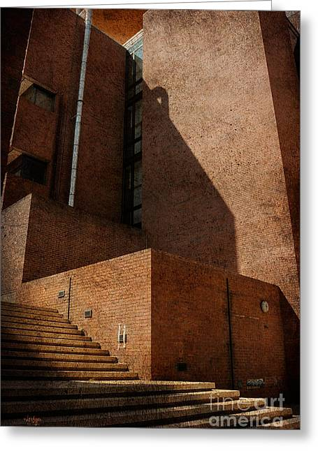 University School Greeting Cards - Stairway to Nowhere Greeting Card by Lois Bryan